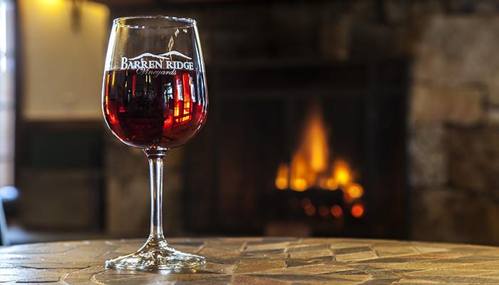 tastings, red wine, fireplace